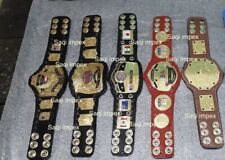 WWE BIG GOLD,WCW, NWA,WORLD TAG,USA TAG TEAM HEAVYWEIGHT Mini 5 Belts Replica