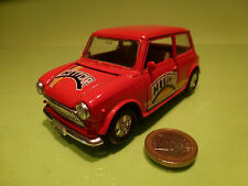 VINTAGE MORRIS MINI COOPER - CITY CAR RED 1:24? LHD - RARE - GOOD PULLBACK