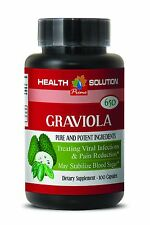 Graviola (leaf powder) 650mg Stem Cell Serum Detox  Natural Remedies 1B