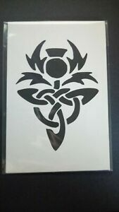 picture mount or stencil celtic thistle knot multi listing