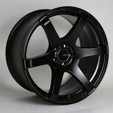 18x8 Enkei T6S 5x112 +35 Black Rims Fits A4 b5 b6 Passat