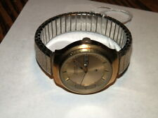 #5580,Bulova Accutron w Date Gold Plt Vintage Wristwatch,10K GF Band