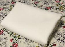 """IVORY WOOL FABRIC CLOTH Cream Ecru Off-White Vintage 27"""" x 58"""" 3/4 yd"""