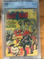 Batman #73 1952 CBCS 2.0 Joker Cover & Story Vicki Vale Appearance Sprang Kane