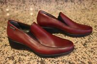 Mephisto Women's Low Platform Red Leather Loafer Shoes Size 7 (SH1000