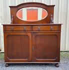 Antique Murphy Bed Cabinet Bed  Medium Brown with Mirror