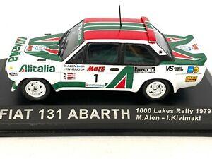 1:43 Scale Altaya De Agostini Fiat 131 Abarth Rally Car - Markku Alen 1979