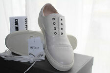 ALEXANDER MCQUEEN STUDDED LOW TOP TRAINER WHITE #10us $845