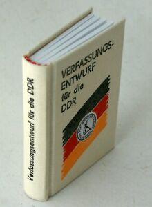 """Minibuch """"Verfassungsentwurf für die DDR"""" Siegfried Spengler Berlin 2002"""