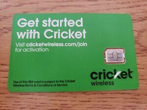 NEW Nano SIM CARD Cricket Wireless Nano Size Sim Never Activated