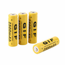 4pcs 3.7V 14500 2500mAh Li-ion Rechargeable Battery For Flashlight Torch LH