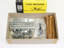 HO Alexander Scale Models Kit CL-100 Undecorated Log Buggie Car w/ Logs Metal