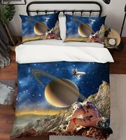 3D Astronaut Planet ZHUA67 Bed Pillowcases Quilt Duvet Cover Set Queen King Zoe