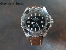 Rolex Deepsea brown Italian ice crack leather watch strap Cheergiant 勞力士義大利冰裂紋錶帶