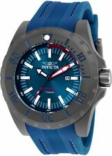 New Men's Invicta 23743 TI-22 Blue Dial Titanium & Polyurethane Watch
