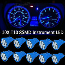 10K Blue LED 194 Wedge Speedo Dash Gauge Instrument Panel Light Bulb For Toyota