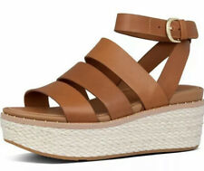 FitFlop Eloise Back Strap Espadrille Womens Wedge Slides Size-7 New Leather