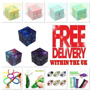 Sensory Infinity Cube Stress Fidget Toys Autism Anxiety Relief Kids Adults Gift*