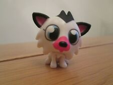 New Small / Mini Moshi Monster White & Black Dog / Animal Plastic Figurine