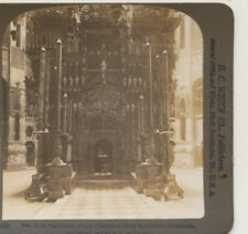 Holy Sepulchre within the Church Jerusalem Palestine HC White Stereoview c1900
