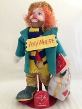 Vtg Original Ron Lee Clown Doll Collection w/Stand Georgie Clown Limited Ed.1988