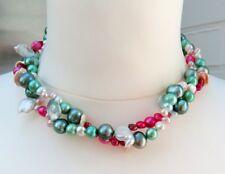 perlas de Agua Dulce Collar Cadena Perlas ejemplar ÚNICO COLLAR PERLAS 4105