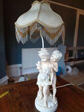 Lámpara de mesa, diseño moldeado Querubín proyecto Ideal para pintar bronce?