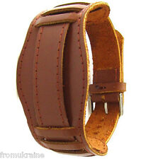 LIGHT BROWN 18mm Army Military Style Soviet Russian Leather Watch Band Strap