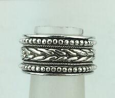 John Hardy Sterling Silver Spinner Ring size 5