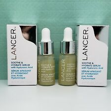 x2 Lancer Soothe & Hydrate Serum with Hyaluronic Acid Travel Size (0.17 oz each)