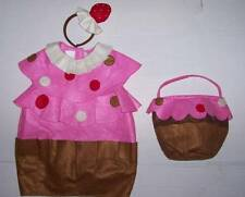 POTTERY BARN KIDS PBK CUPCAKE COSTUME 2T-3T 2 3  + TREAT BAG Halloween