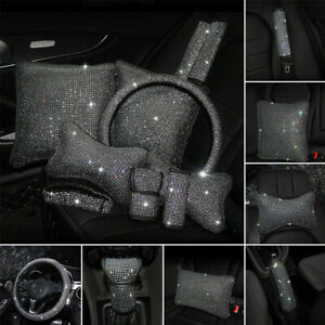 Universal Sparkle Luxury Bling Bling Diamond Car Accessories Wheel Cover Silver