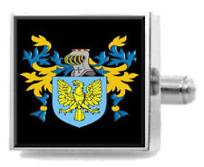 Nancarrow England Family Crest Surname Coat Of Arms Tie Clip Engraved In Pouch