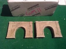 2x single tunnel  - Z scale gauge- painted and weathered- ..concrete Type
