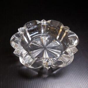 Cendrier vide-poche verre cristal vintage art déco table maison France N7654