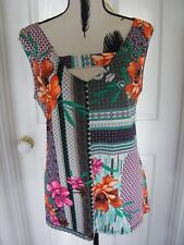 MOTTO Sleeveless & Stunning Bright LOOSE Fitting Top Size 18 PERFECT Condition