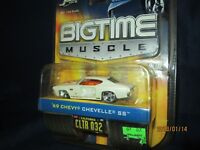 1969 CHEVY chevelle ss  BIGTIME MUSCLE  1/64 dub city  jada toys 8+ white