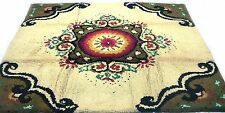 "Antique vintage Turkish handmade hand-knotted thick rug 79"" x 87"" pure wool  #83"