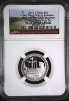 2019 S First .999 Fine Silver Quarter 25c American Memorial Park NGC PF70 UC ER