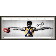 JOSH KENNEDY WEST COAST EAGLES SIGNED FRAMED OFFICIAL AFL WINGS PRINT