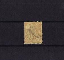 timbre France Colonies Francaises  Dubois   25c  jaune  brique   num: 53  obl