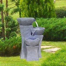Modern Indoor Outdoor Polyresin Water Fountain LED Lights Garden Statues Decor