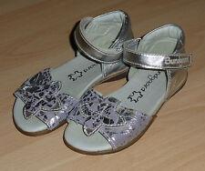 Bundgaard Schuhe Sandalen  Gr.24 Leder Klettverschluss silber