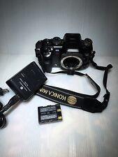 Konica Minolta Maxxum 7D DSLR Camera Body,Battery, Charger and Strap-LCD BROKEN