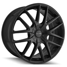 "4-Touren TR60 18x8 5x112/5x120 +40mm Matte Black Wheels Rims 18"" Inch"