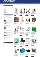 CAT HOUSES WEBSITE WITH 1 YEARS HOSTING - ECOMMERCE - NEW DOMAIN