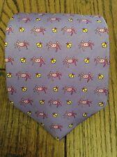 NWOT Brooks Brothers 100% Silk Purple Tie w/ Spiders & Flies
