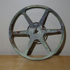 "Vintage - Empty Tower Metal Movie Film Reel Gray 5"" Diameter Steampunk Wall Art"