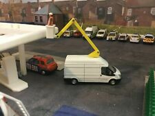 1/76 Code3 cherry picker  ford transit oxford diecast (white)