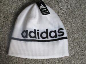 Adidas Climawarm Youth Boys Logo Winter Beanie Hat White